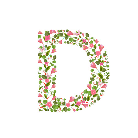 spring letter j floral font with with spring pink flowers romantic alphabet
