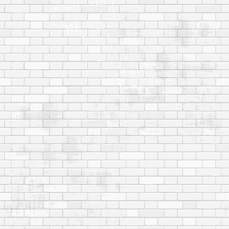 white wall texture: old white brick wall for your design. seamless texture