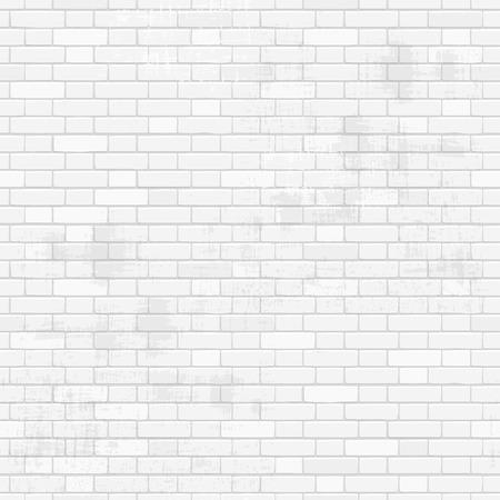 stary biały mur z cegły dla swojego projektu. bezszwowych tekstur