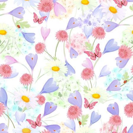 disegno floreale delicata su sfondo bianco. senza soluzione di tessitura