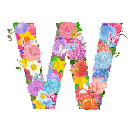Mode alphabet de belles fleurs de jonquilles Banque d'images - 63146085