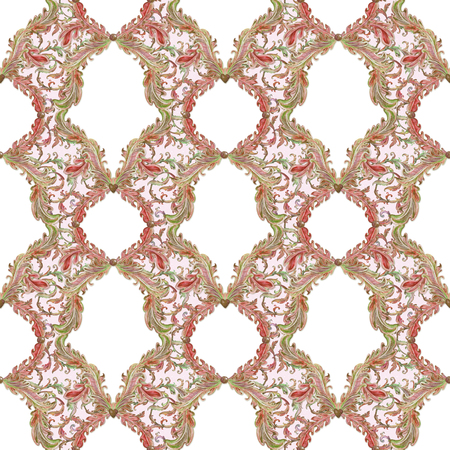 texture fantasy: fantasy seamless texture with floral scroll filigree. template frame for your design. watercolor painting