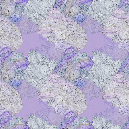 texture fantasy: fantasy seamless texture for batik with floral pattern. watercolor painting