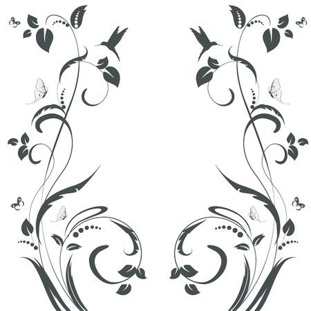 swirl: elegant floral swirl frame for your design