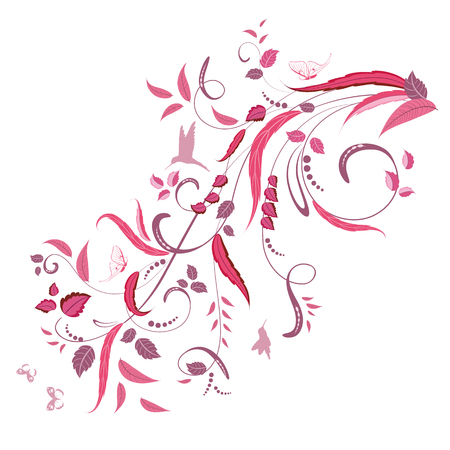 butterfly flower: elegant floral ornament for your design