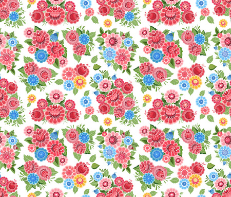 tiny: fancy seamless texture with stylized tiny flowers Illustration