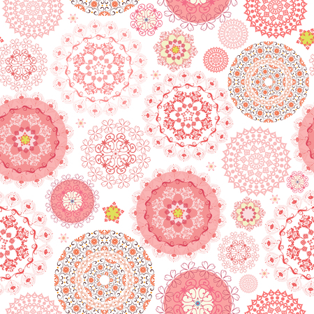 ornamental: cute seamless texture with graceful arabesques for your design