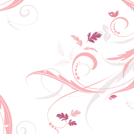 pink swirl: graceful floral background for your design