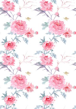 elegante naadloze textuur met bloemenpatroon. aquarel schilderij