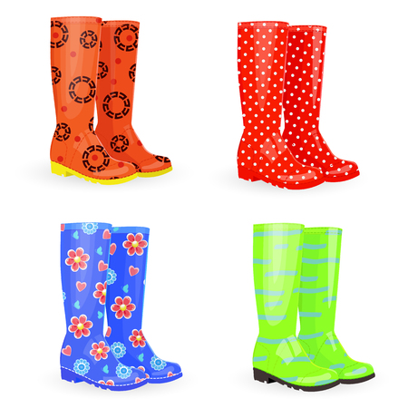 lovely collection of gum boots different colors and patterns