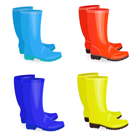 Fine collection of gum boots different colors