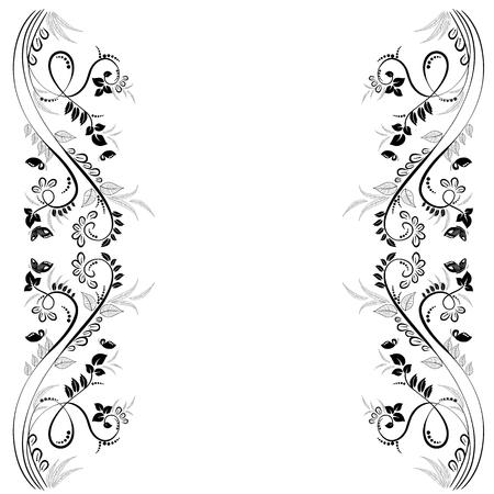 Elegante floral frame for your design
