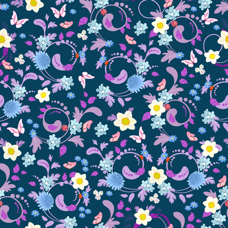 Sierlijke naadloze textuur met Lentebloemen voor uw ontwerp