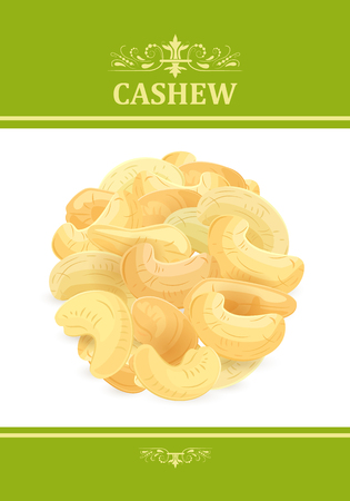 banner template with fresh cashews for your design