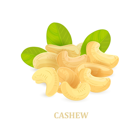 A banner with pile of cashews for your design.