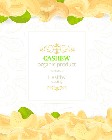 flyer with horizontal border of cashews for your design