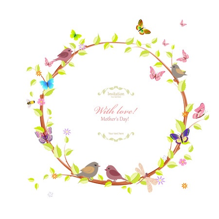 cute floral wreath for your design