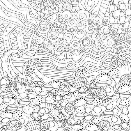 Seascape per Coloring Book
