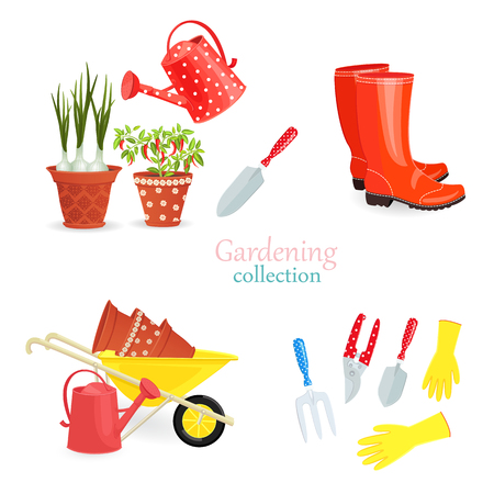 Fashion collection of gardening equipments for your design