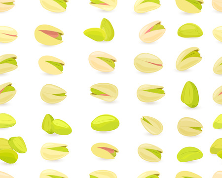 Seamless texture with pistachios for your design