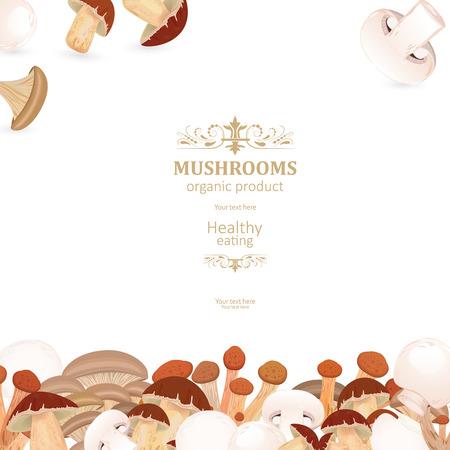szablon karty z grzybami jadalnymi do swojego projektu