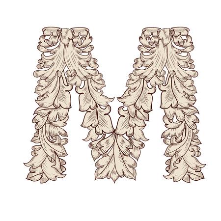 Fancy foliage uppercase letter M