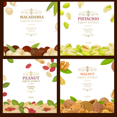 Collection of banners with delicious Ilustração Vetorial