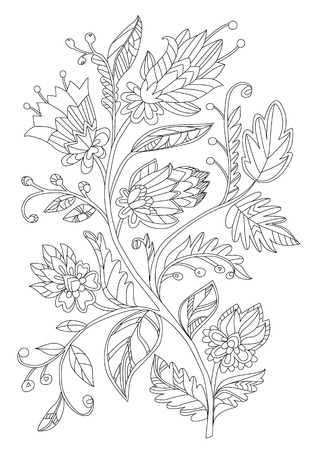 Fantasy floral tree for your coloring book