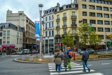 belgique: Streets of the Brussels, Belgium, Belgique, Europe  Stock Photo