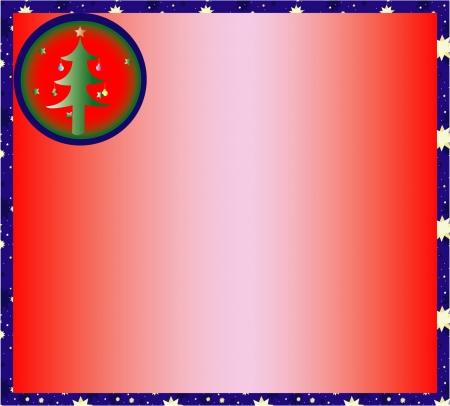 christmas motif: Frame with Christmas Motif Illustration