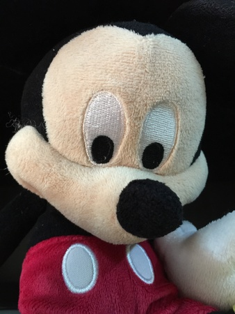 soft toy: Mickey Mouse soft toy Stock Photo