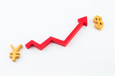exchange rate concept image
