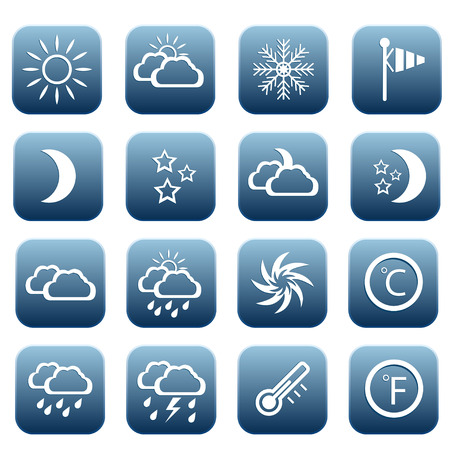 humidity: Set of weather icons