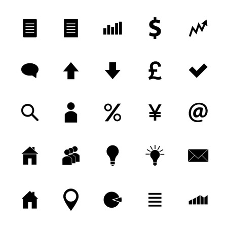 Set of business icons Illustration