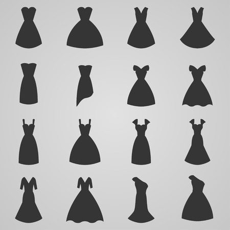Set of women dress, vector illustration