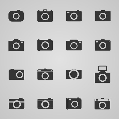 photo icons: Set of photo icons, vector illustration