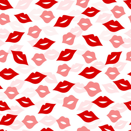 Seamless lips background, vector illustration