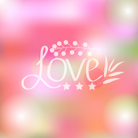 romantic: Bright romantic card, vector illustration Illustration