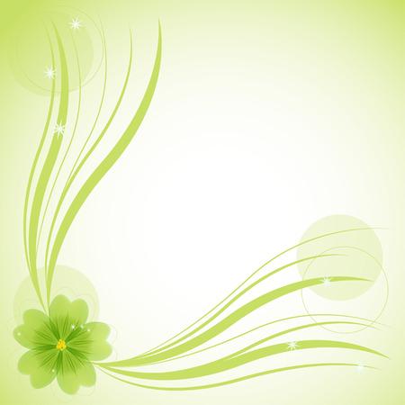 flor: Abstract floral background, vector illustration