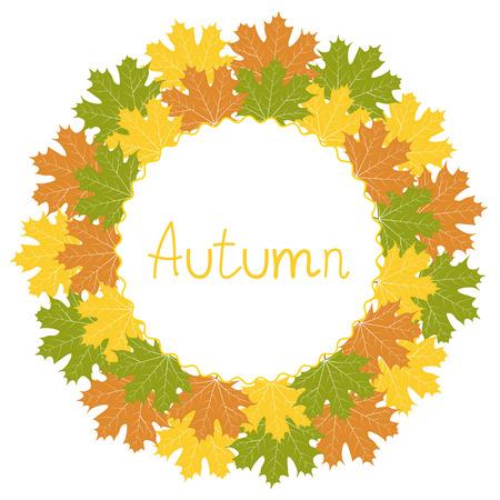 decorative frame: Autumn decorative frame, vector illustration