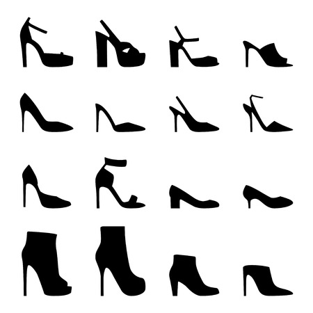 women's shoes: Set of womens shoes, vector illustration