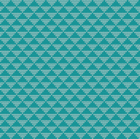 knitted: Seamless knitted triangle background, illustration