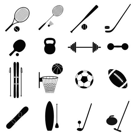 Conjunto de iconos del deporte, la ilustración Ilustración de vector