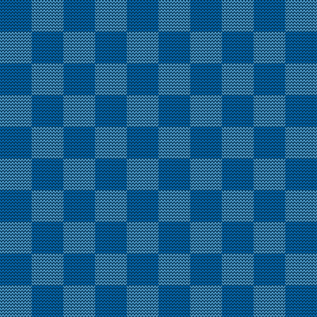 Seamless knitted geometric pattern, illustration