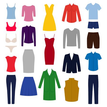 Aufhänger Rack Mit Männlichen Und Weiblichen Kleidung. Wohnung Stil ...