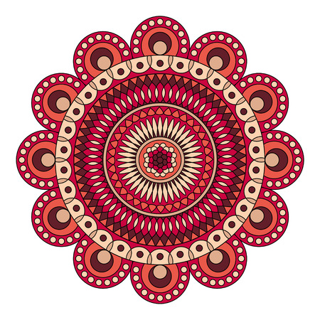 Color floral mandala, vector illustration Illustration