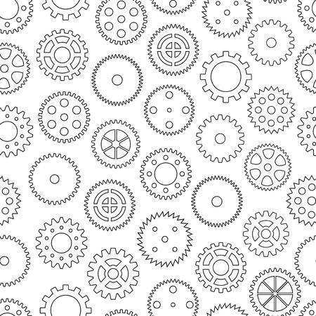 Nahtlose Hintergrund mit Zahnrädern, Vektor-Illustration Vektorgrafik