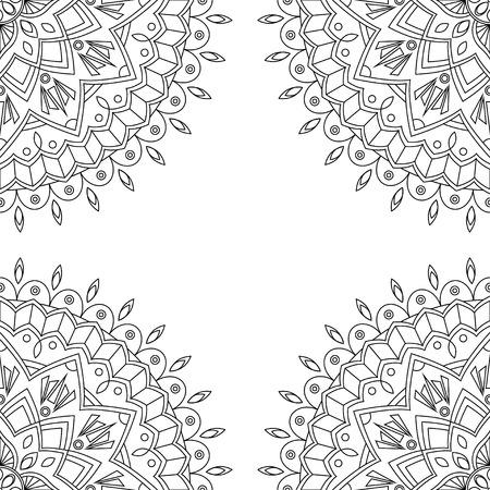 mandalas: Seamless background with floral mandalas, vector illustration Illustration