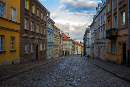 Street in Old Town in Warsaw. November 27, 2016