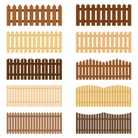Set of fences, vector illustration